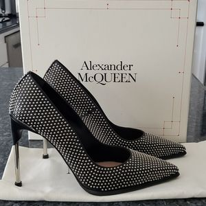 Alexander McQueen leather studded heels